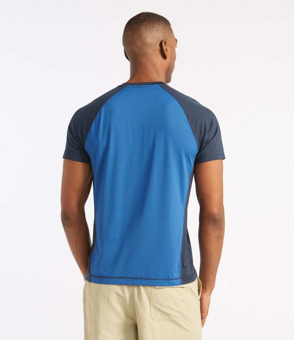 L.L.Bean Water-Sport Shirt, Slightly Fitted Short-Sleeve Colorblock