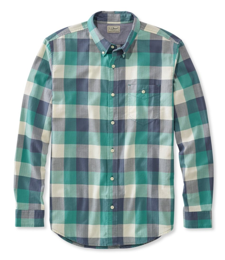 Lakewashed Herringbone Shirt, Slightly Fitted