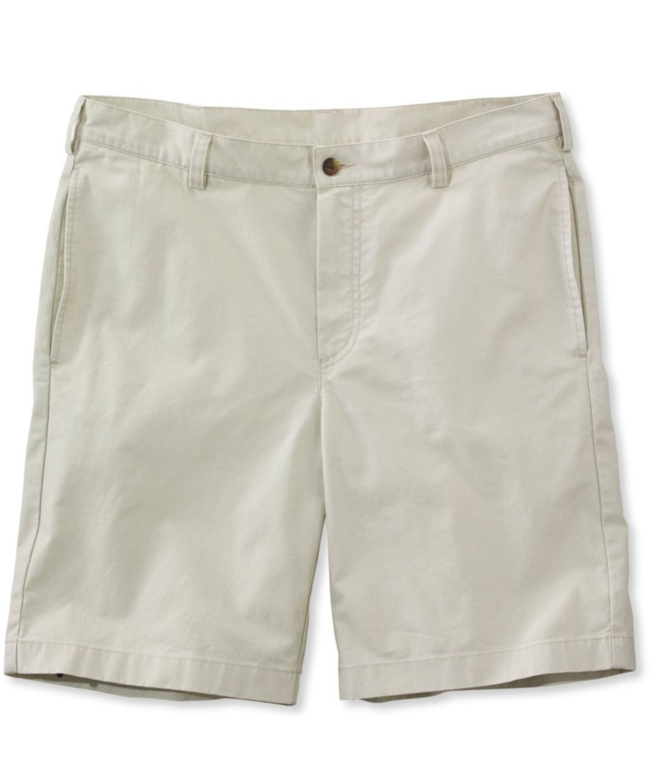 Tropic-Weight Chino Shorts, Standard Fit Plain Front 9""