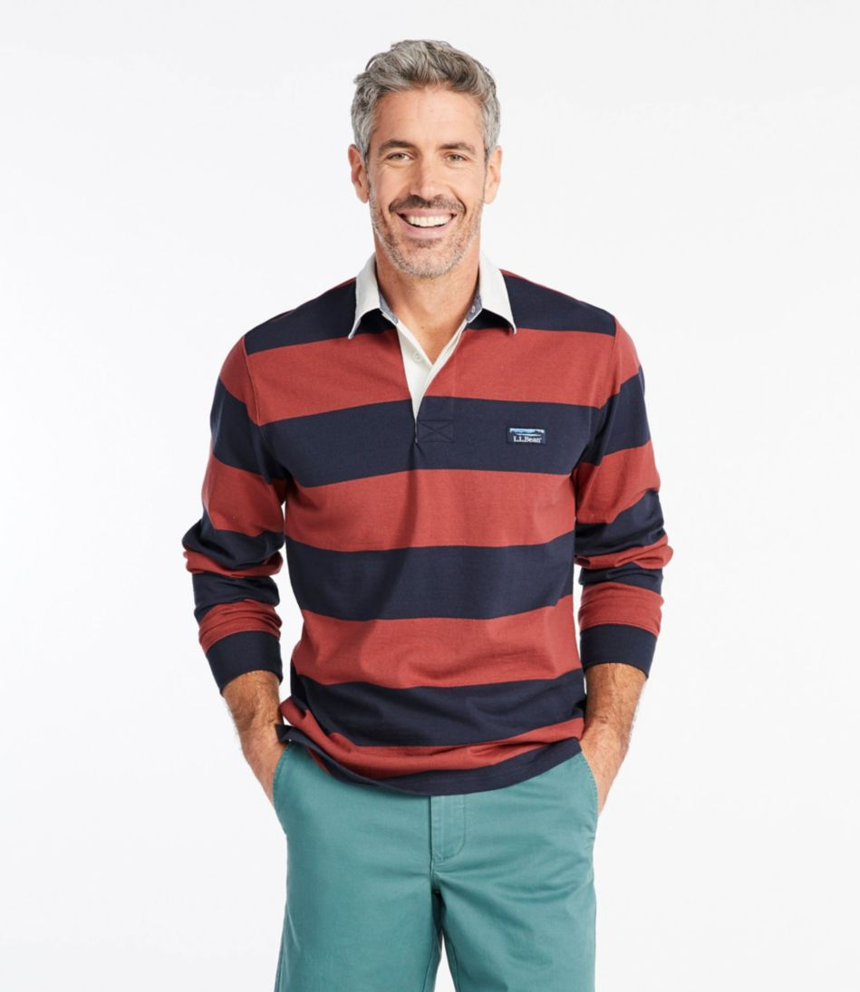 Lakewashed® Rugby, Traditional Fit Long-Sleeve Stripe