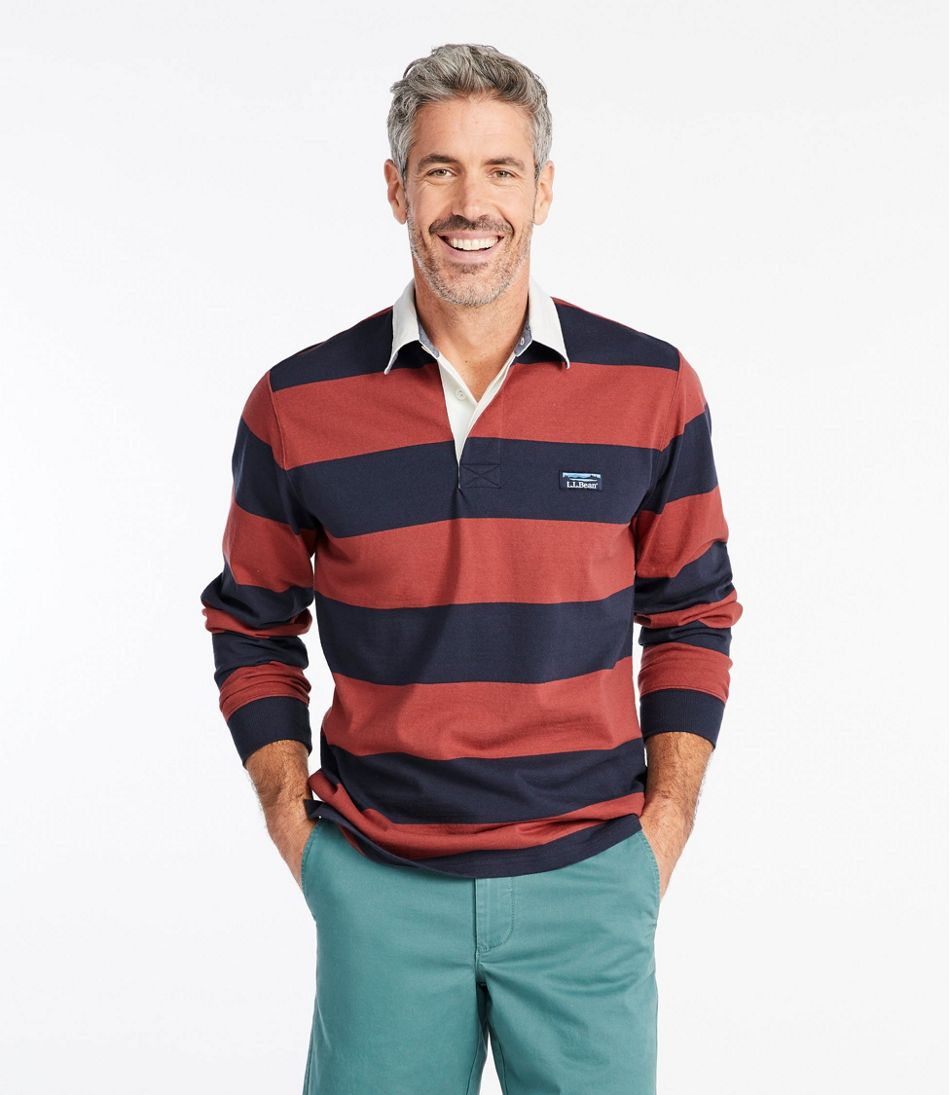 Men's Lakewashed® Rugby, Traditional Fit Long-Sleeve Stripe