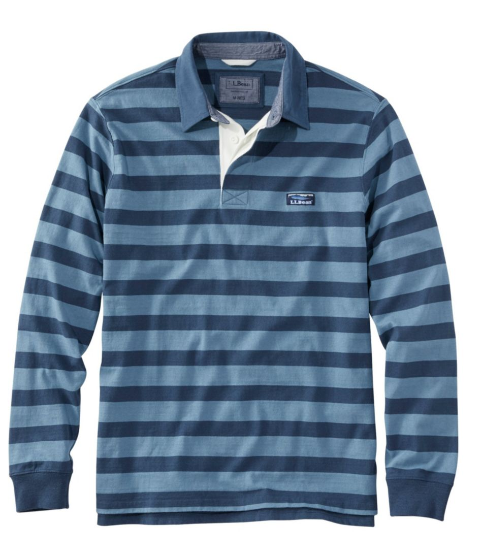 Lakewashed Rugby, Traditional Fit Long-Sleeve Stripe