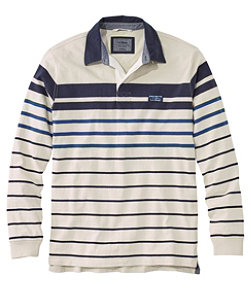 Men's Lakewashed Rugby, Traditional Fit Long-Sleeve Stripe