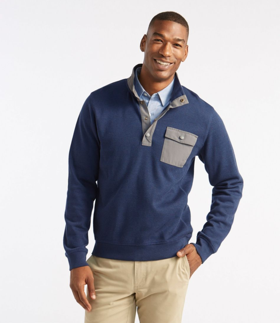 Stormproof Rib-Knit Pullover, Slightly Fitted