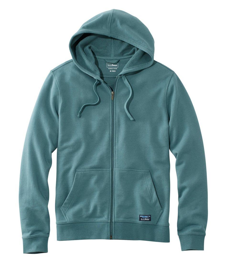 L.L.Bean Essential Sweatshirt, Hoodie Slightly Fitted Full-Zip