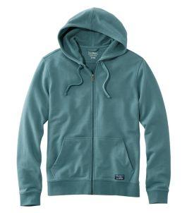 Men's L.L.Bean Essential Sweatshirt, Hoodie Slightly Fitted Full-Zip