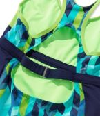 L.L.Bean Active Swim Collection, Racer-Back Tanksuit Print