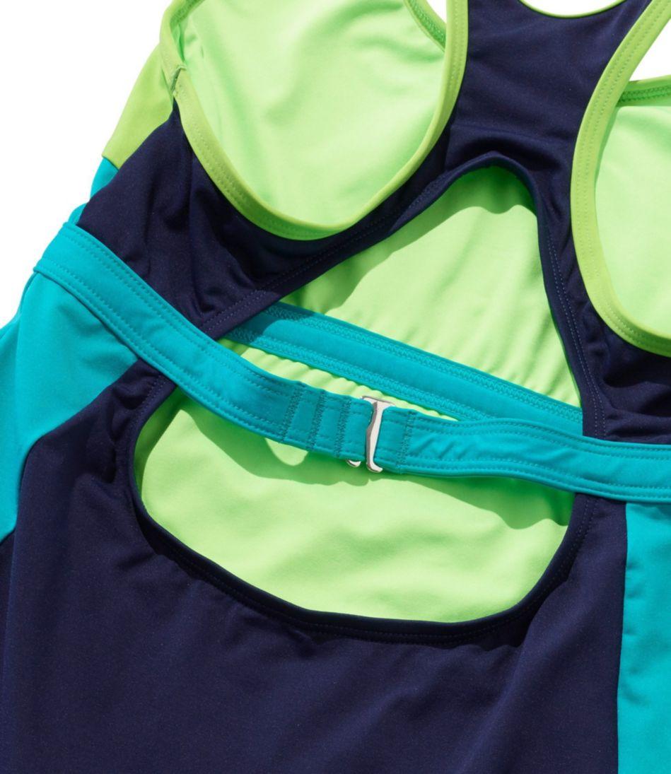 L.L.Bean Active Swim Collection, Racerback Tankini Colorblock