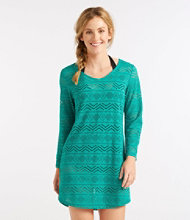Eyelet Caftan Cover-Up, V-Neck