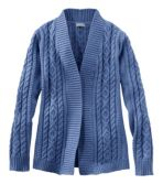 Women's Double L® Cotton Sweater, Open Cardigan