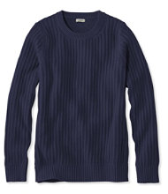 Fisherman's Ribbed Sweater, Crewneck