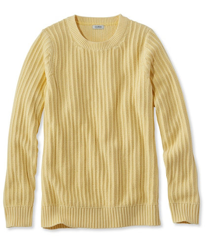 Fisherman's Ribbed Sweater, Crewneck | Free Shipping at L.L.Bean.