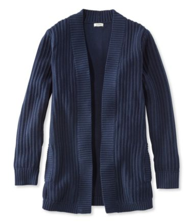 Fisherman's Ribbed Open Cardigan