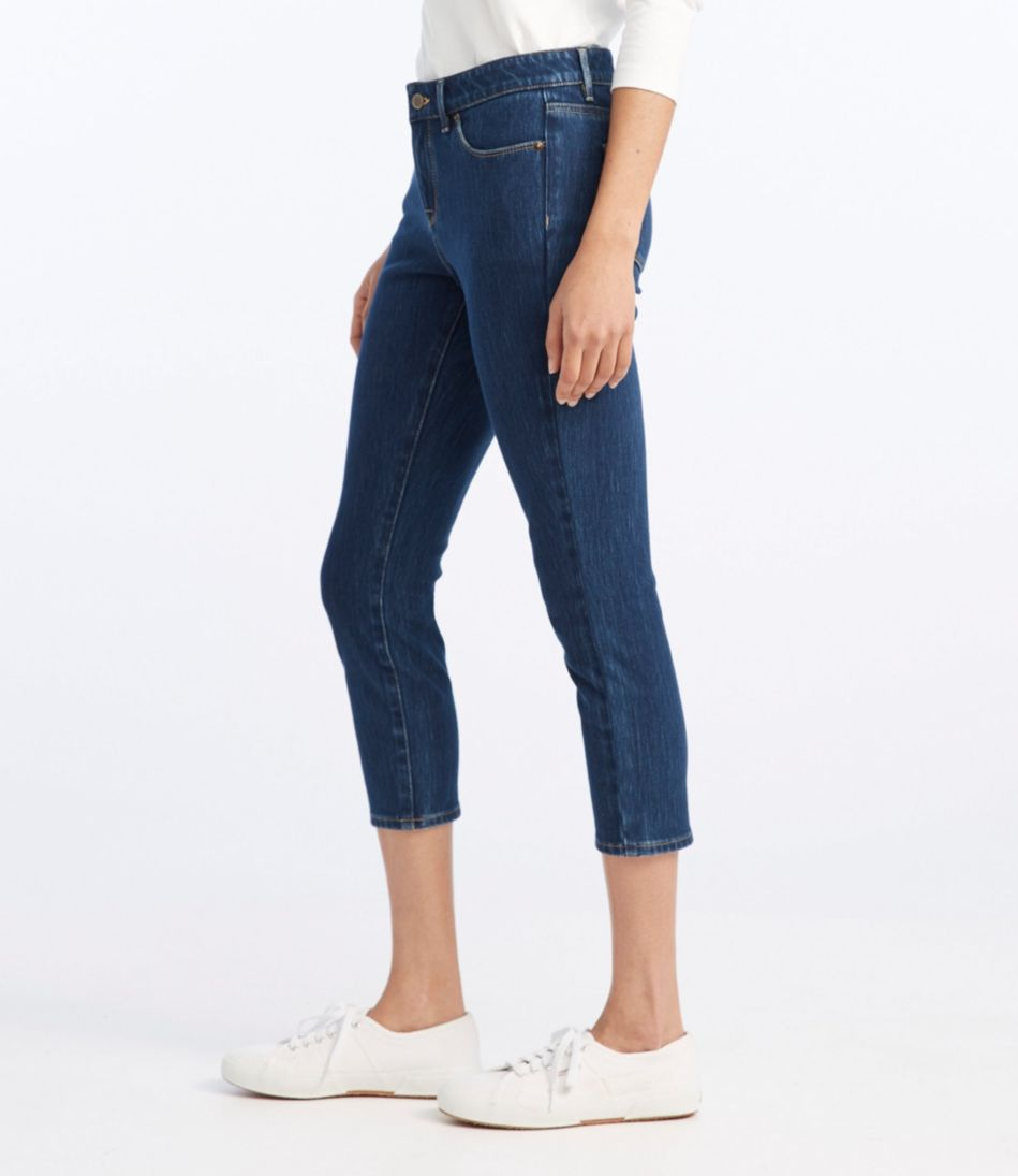 Comfort Knit Jeans, Favorite Fit Skinny-Leg Cropped