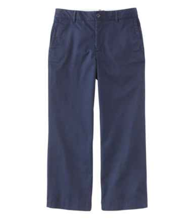 Washed Chinos, Wide-Leg Cropped