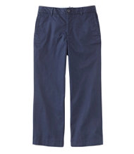 Women's Washed Chinos, Wide-Leg Cropped