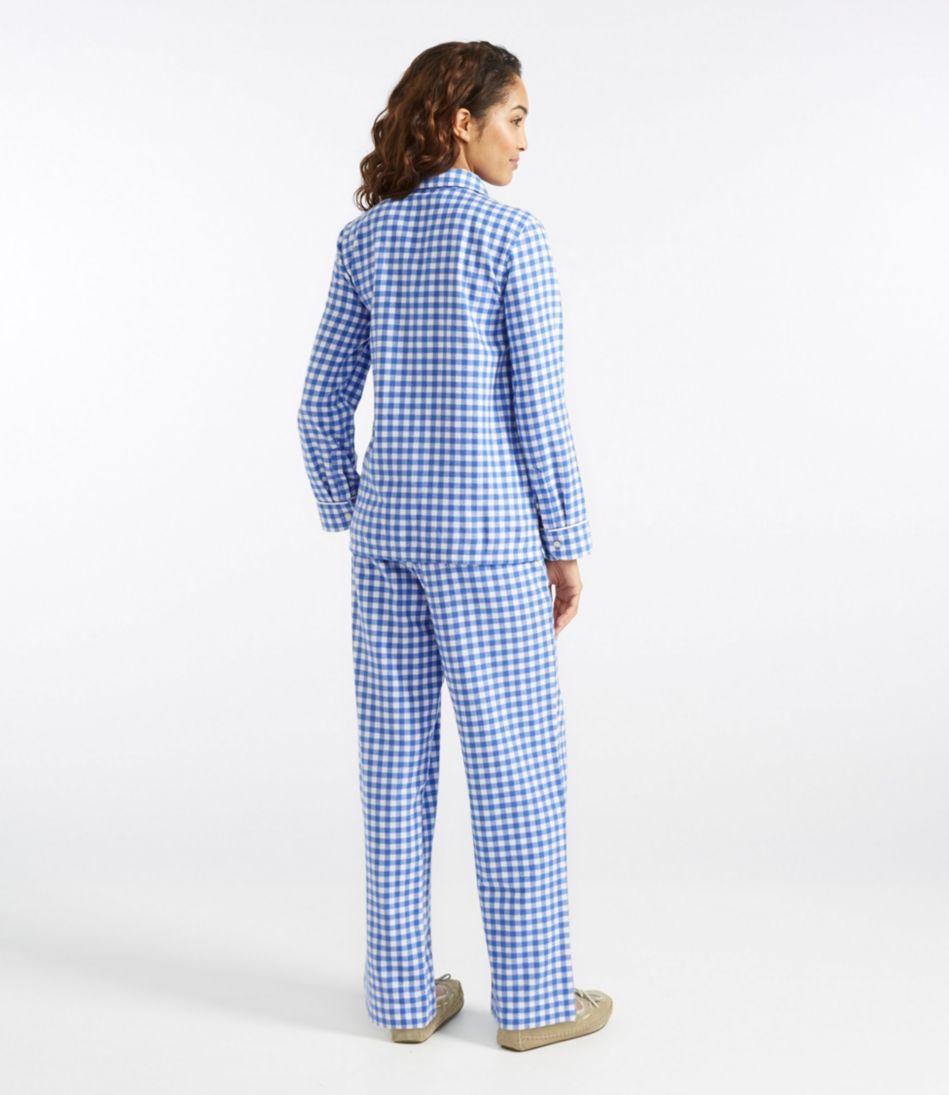 L.L.Bean Flannel Pajama Set, Gingham