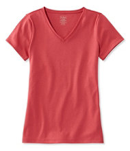 Pima Cotton Shaped V-Neck, Short-Sleeve