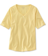 L.L.Bean Tee, Elbow-Sleeve Henley