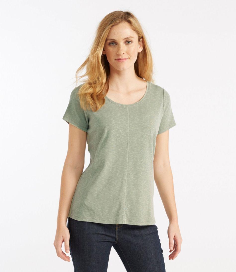 Garment-Dyed Cotton Tee, Short-Sleeve Crewneck