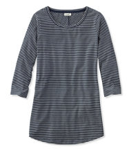 Women's Stripe Tunic Tee, Three-Quarter-Sleeve
