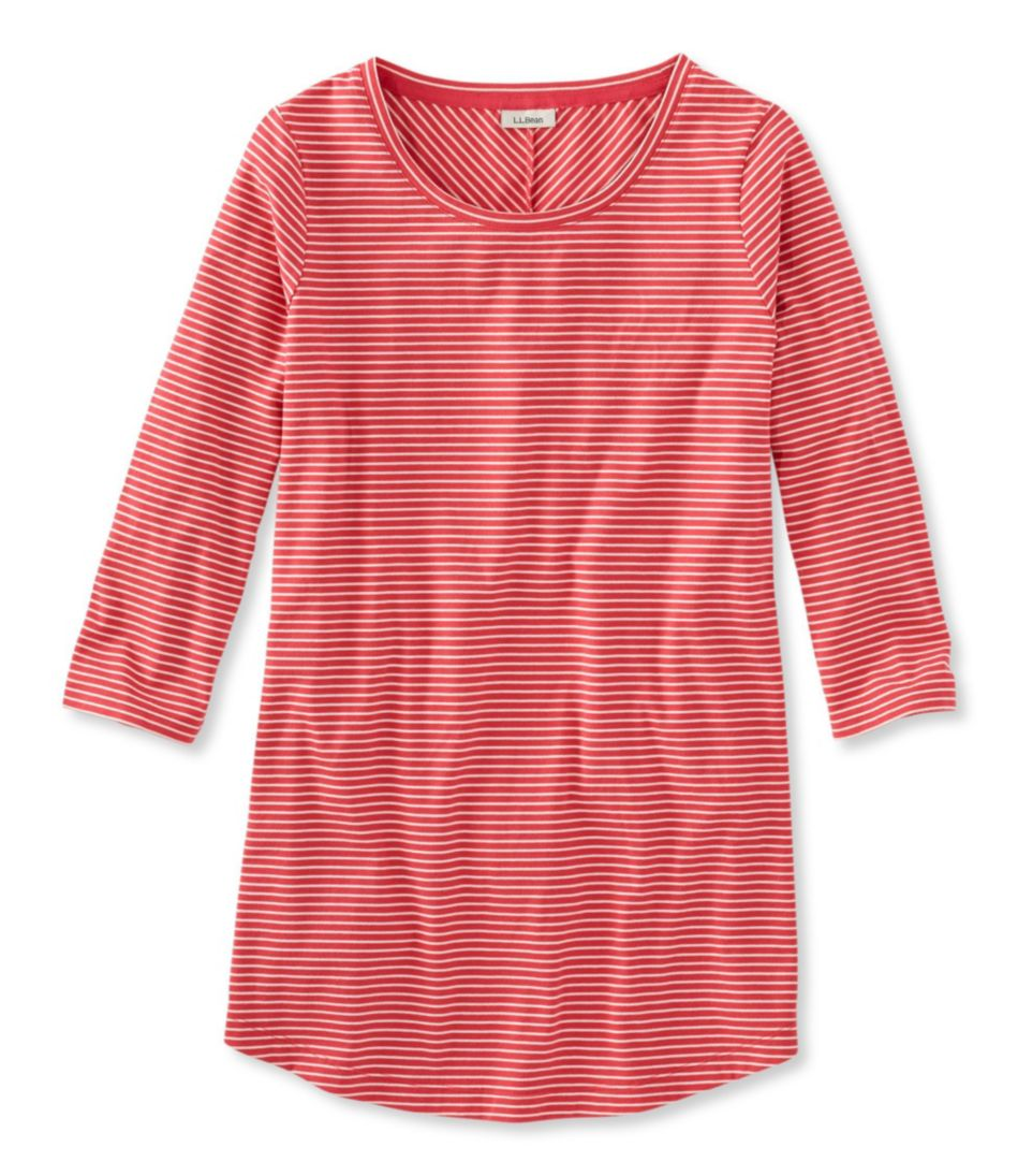 Stripe Tunic Tee, Three-Quarter-Sleeve