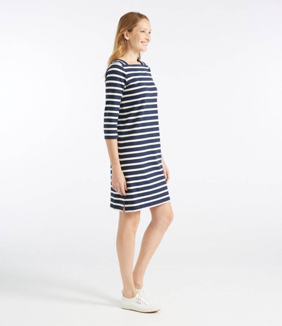Mariner Squareneck Dress, Stripe