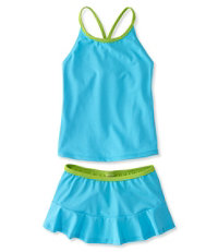 Girls' BeanSport Skirted Tankini