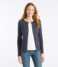 Supima-Blend Essential Cardigan, Print