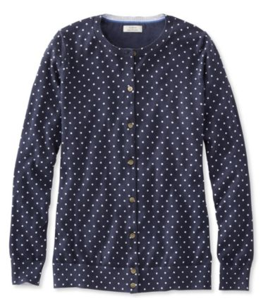 Supima Essential Cardigan, Print