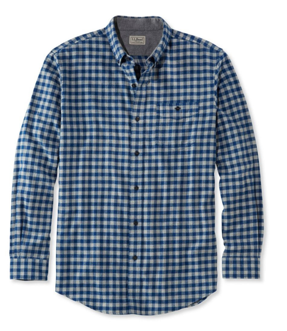 Lakewashed Flannel Shirt, Slightly Fitted Gingham