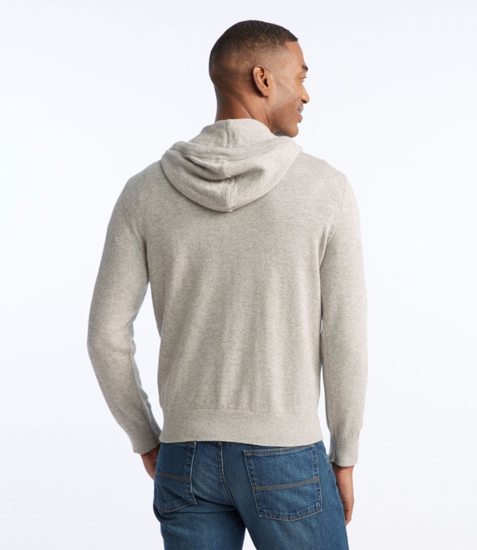 Summerweight Sweater, Henley Hoodie Slightly Fitted