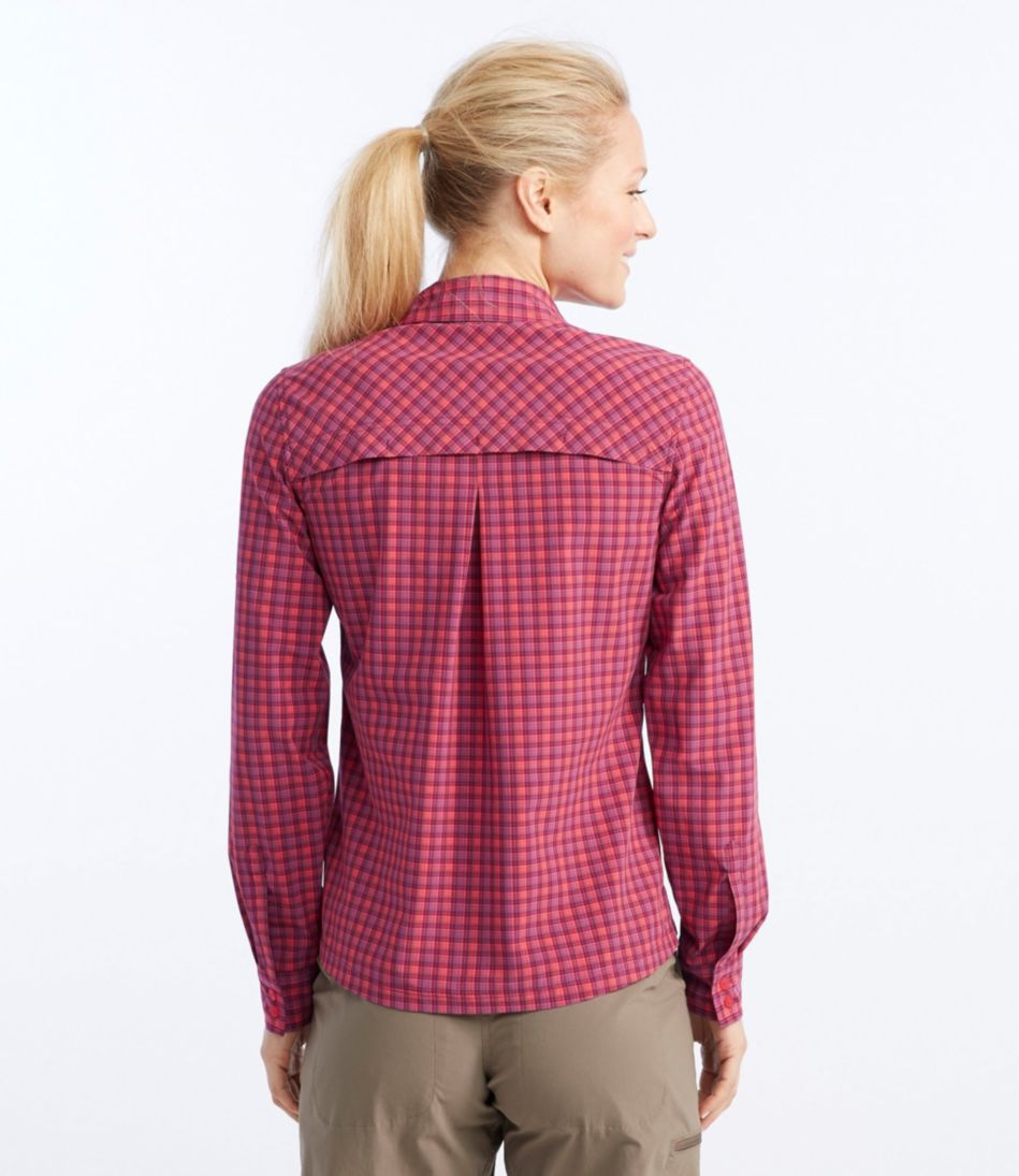 Quick-Dry Hiking Shirt, Long-Sleeve Plaid