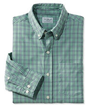 L.L.Bean Stretch Twill Shirt, Long-Sleeve Slightly Fitted Plaid