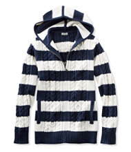 Double L Mixed Cable Sweater, Zip-Front Hoodie Stripe