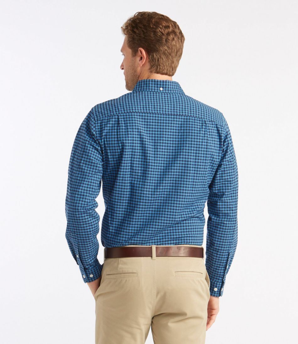 L.L.Bean Stretch Oxford Shirt, Slightly Fitted Gingham