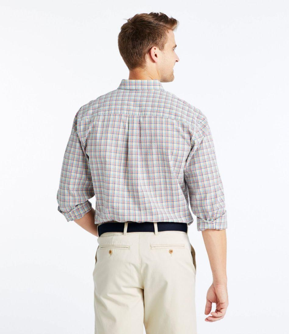 Seersucker Shirt, Long-Sleeve Tattersall