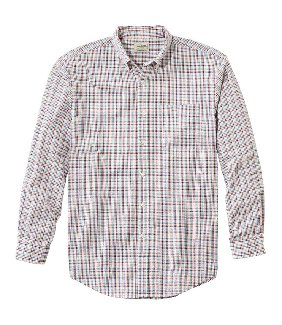 Seersucker Shirt, Long-Sleeve Tattersall