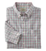 Men's Seersucker Shirt, Long-Sleeve Tattersall