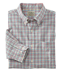 Seersucker Shirt, Long Sleeve Tattersall