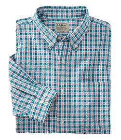 Men's Seersucker Shirt, Long Sleeve Tattersall