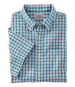 Seersucker Shirt, Traditional Fit Short-Sleeve Tattersall