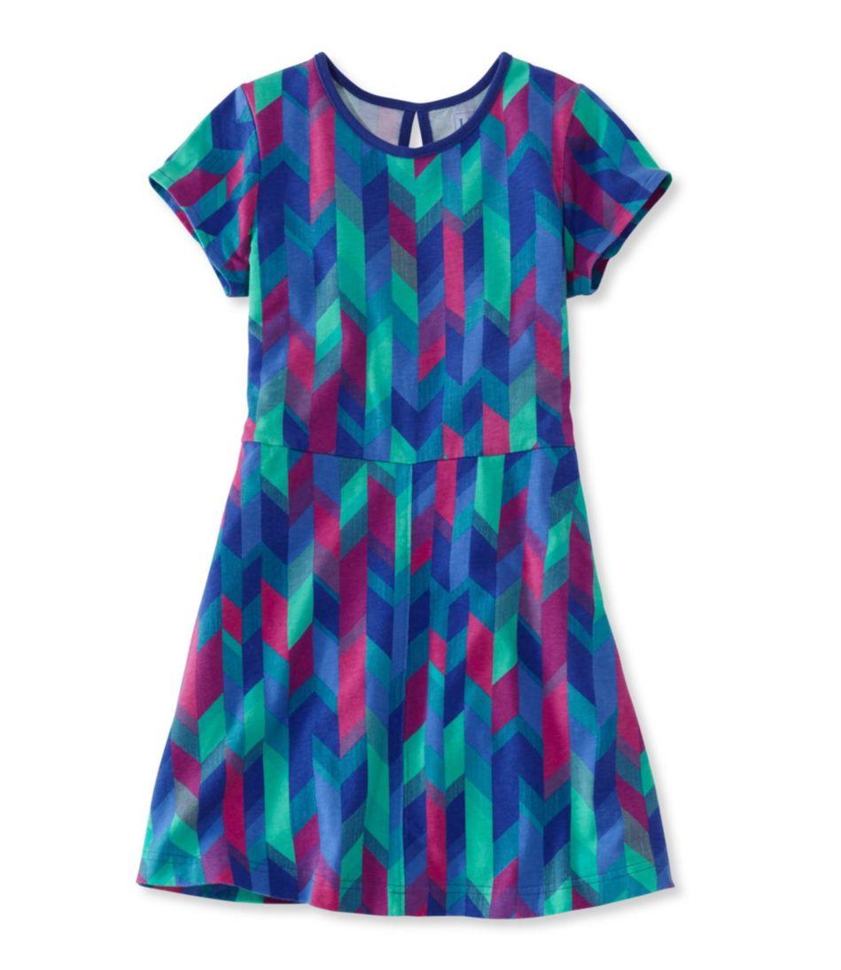 Girls' Unshrinkable Dress, Print
