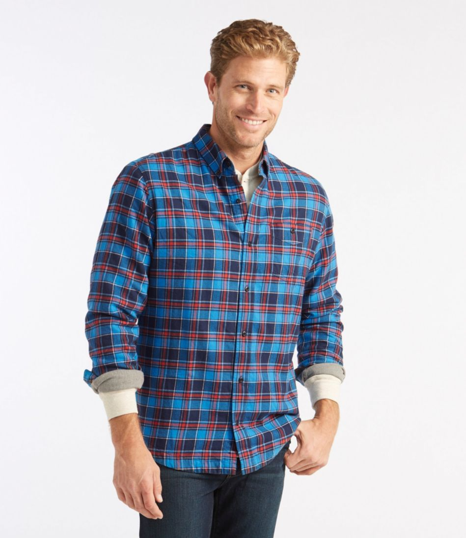 Lined Lakewashed Flannel Shirt, Slightly Fitted Plaid