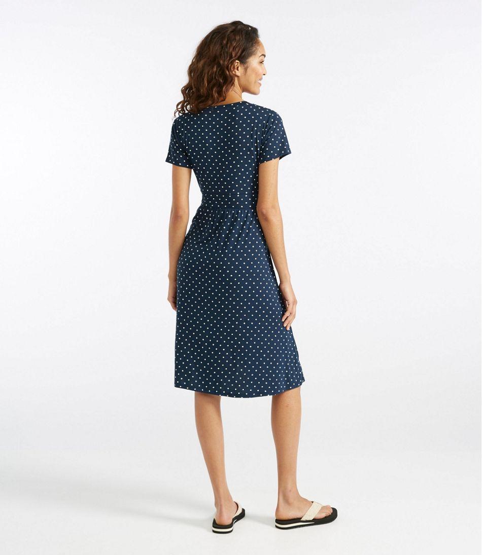 15f46d28e9448 Summer Knit Dress, Short-Sleeve Dot