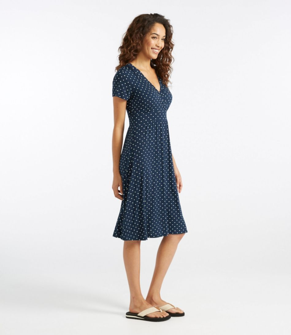 Summer Knit Dress, Short-Sleeve Dot
