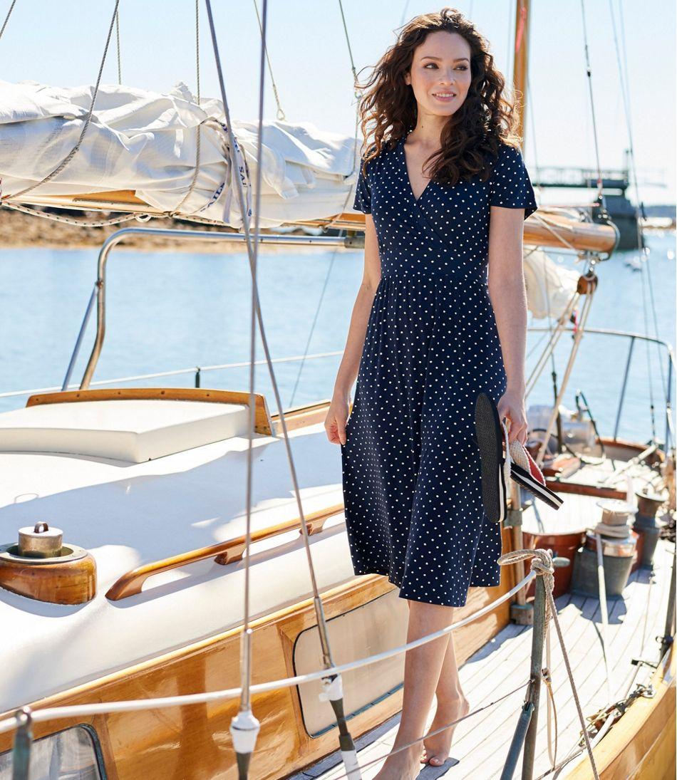 02152f3e84c5 Summer Knit Dress, Short-Sleeve Dot