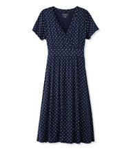 Women's Summer Knit Dress, Short-Sleeve Dot