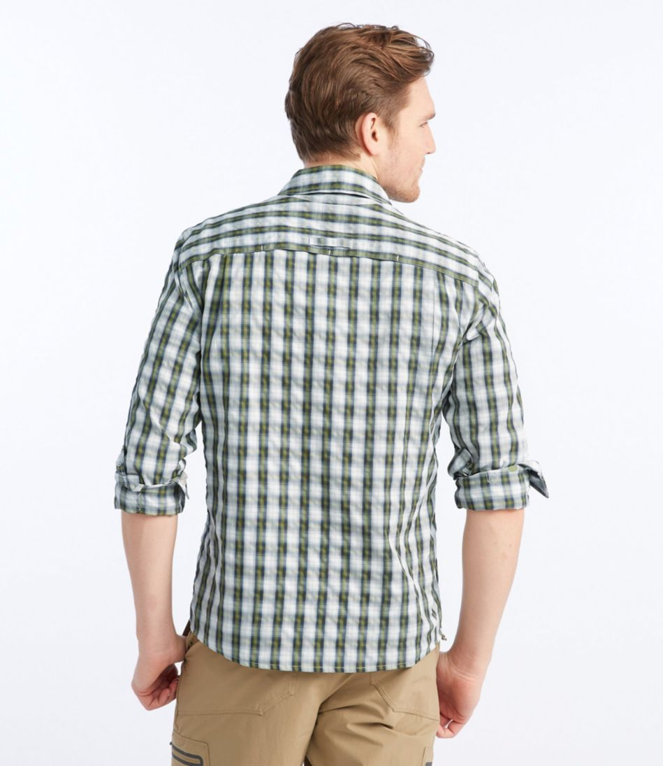 No Fly Zone Travel Shirt Plaid Men's Regular