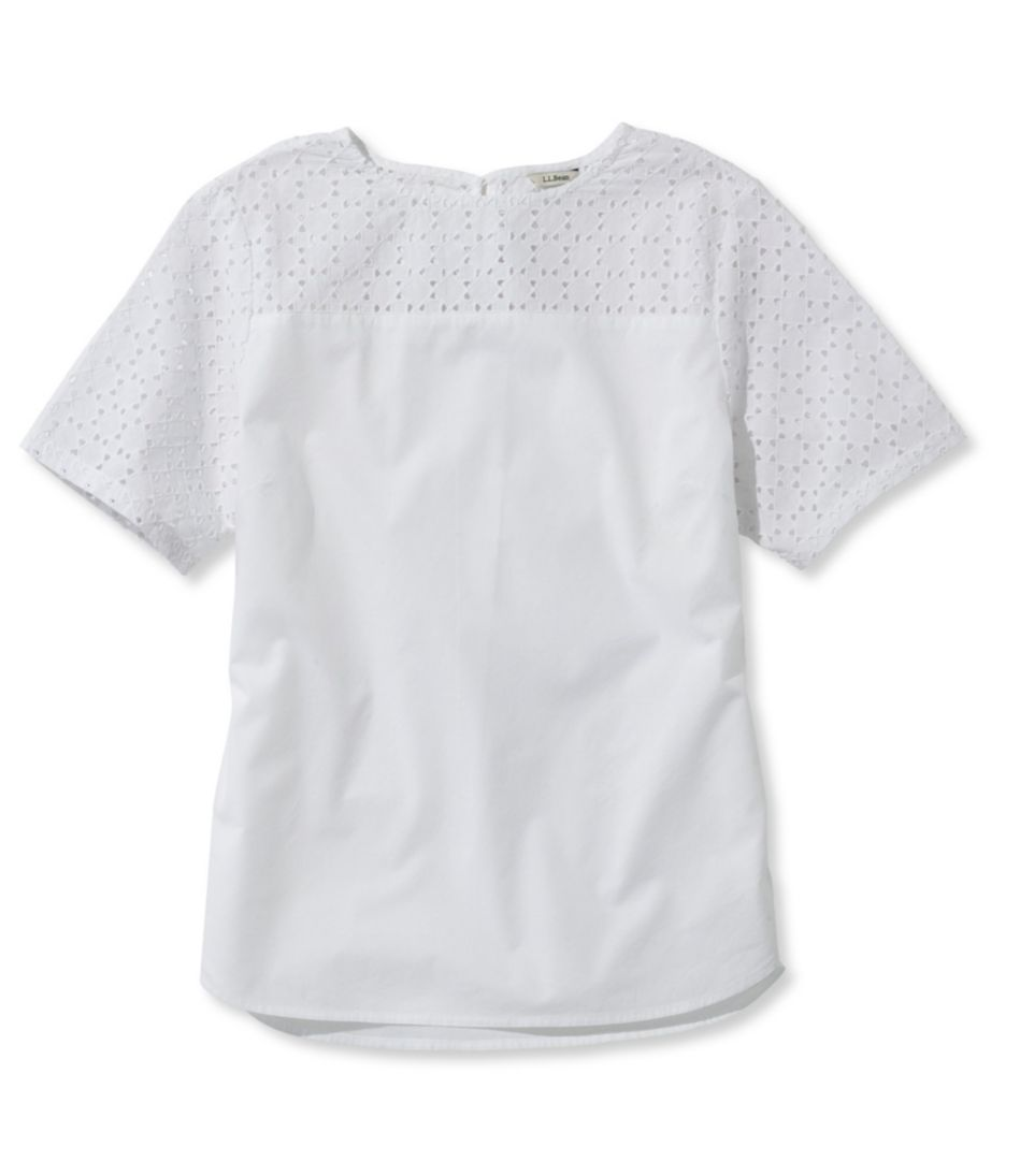 Cotton Eyelet-Trimmed Shirt